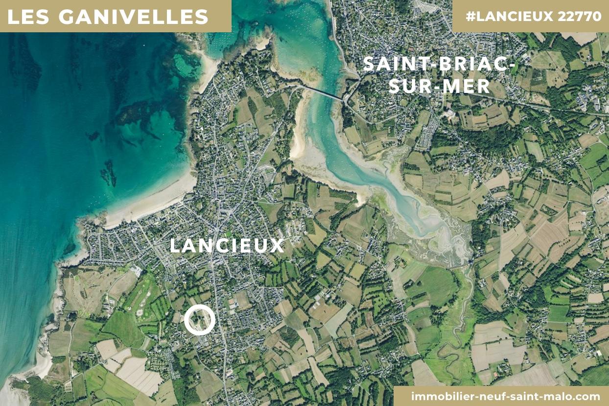 Localisation du programme neuf Les Ganivelles à Lancieux