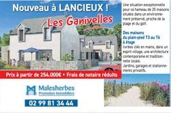 Publicité programme maisons neuves les Ganivelles à Lancieux