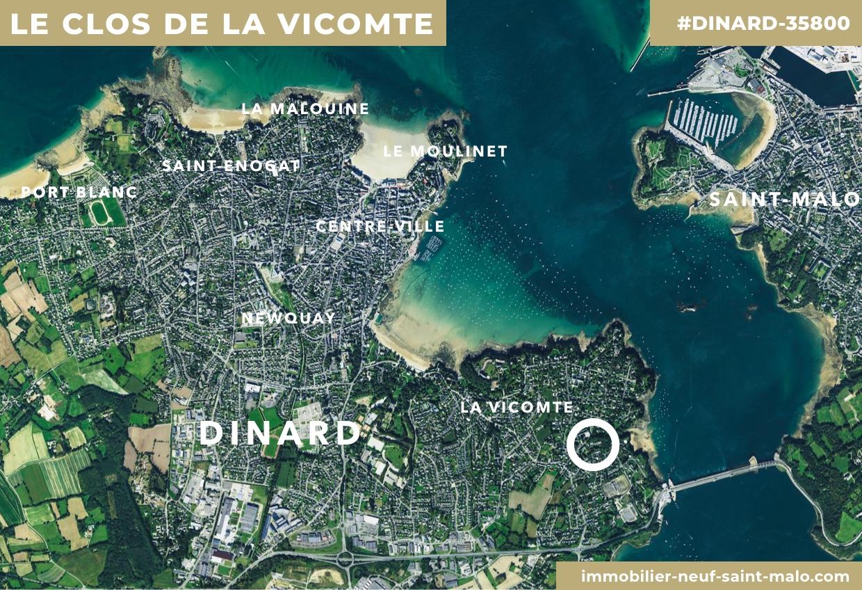 Localisation du programme neuf Le Clos de la Vicomté à Dinard