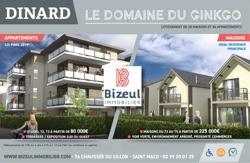 Publicité programme neuf Domaine du Ginkgo appartements à Dinard
