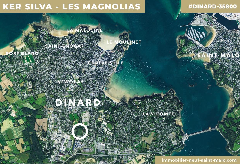 Localisation du programme neuf Ker Silva Les Magnolias à Dinard