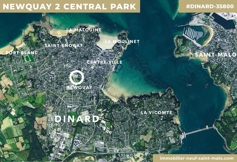 Localisation du programme neuf Newquay 2 Central Park à Dinard