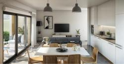 Illustration d'ambiance intérieur appartement neuf Newquay 2 Garden à Dinard