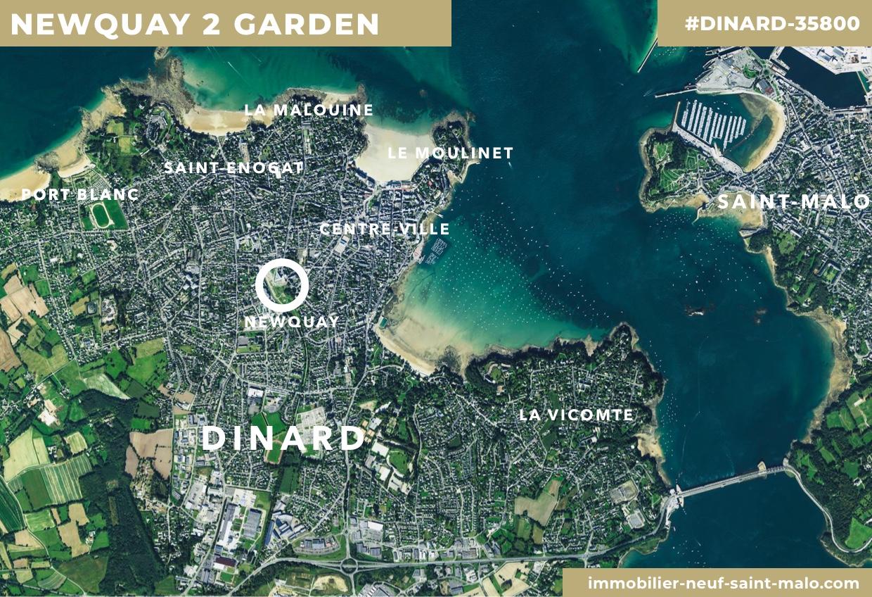 Localisation du programme neuf Newquay 2 Garden à Dinard
