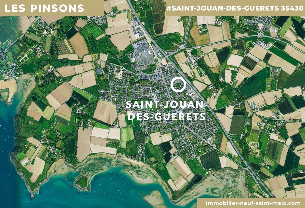 Localisation du programme neuf Les Pinsons à Saint-Jouan-des-Guerets