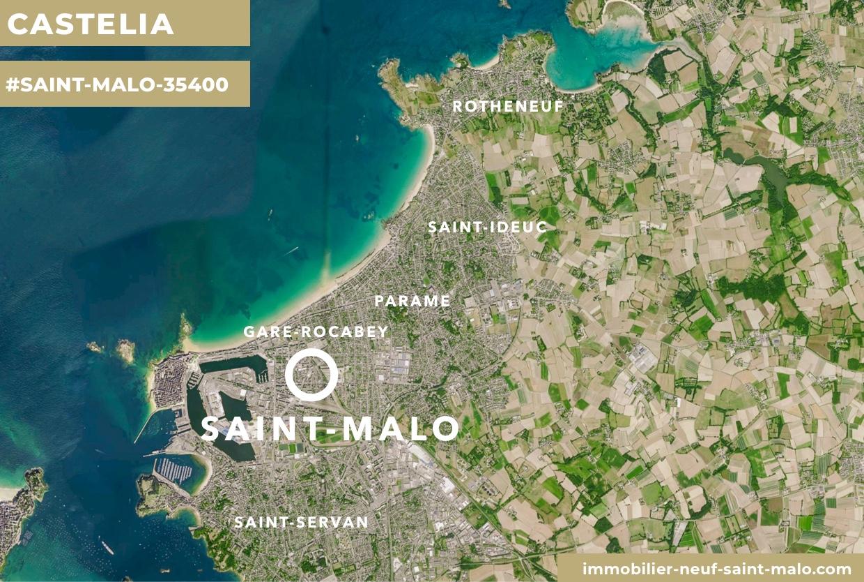 Localisation du programme neuf Castelia à Saint-Malo