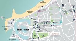 Plan de localisation programme neuf Castelia Saint-Malo