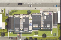 Plan masse programme neuf Castelia à Rocabey, Saint-Malo