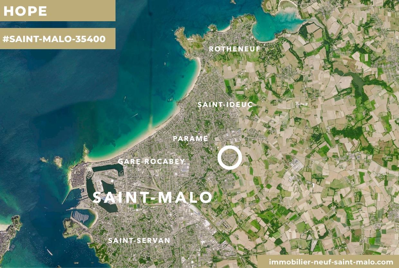 Localisation du programme neuf Hope à Saint-Malo