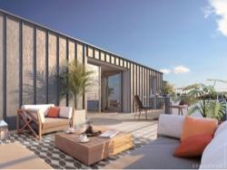 Terrasse attique appartement neuf Le Baltique à Saint-Servan