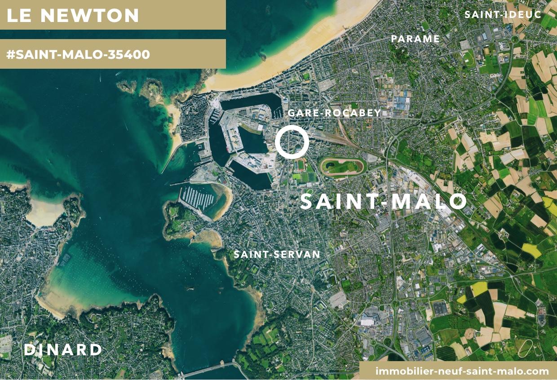 Localisation du programme neuf Le Newton à Saint-Malo