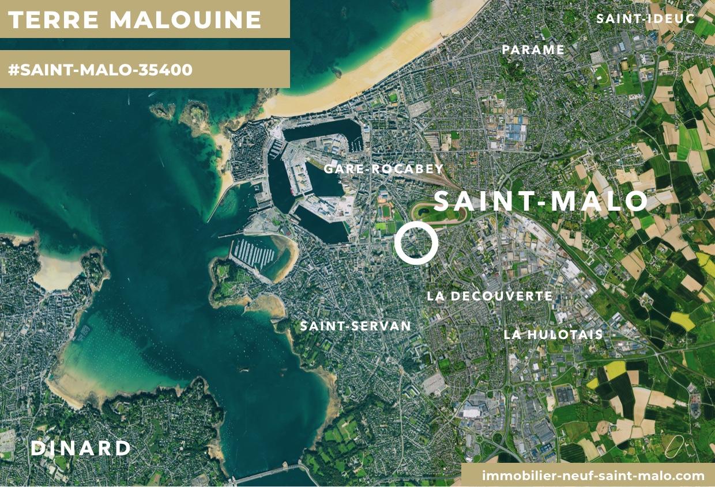 Localisation du programme neuf Terre Malouine à Saint-Malo